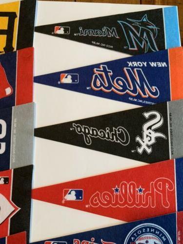 "NEW Baseball Teams Mini Pennants Pick Team 4""x9"" Flag"
