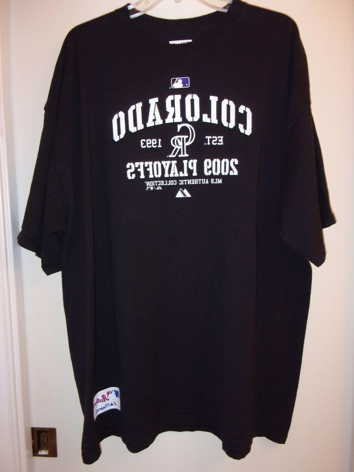 nwot authentic collection colorado rockies shirt sz