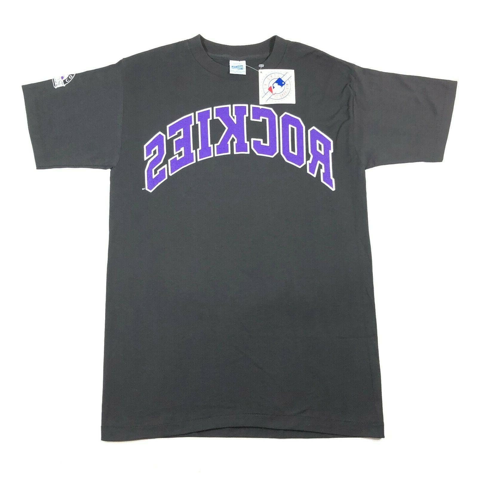 vintage 1992 nwt colorado rockies black purple