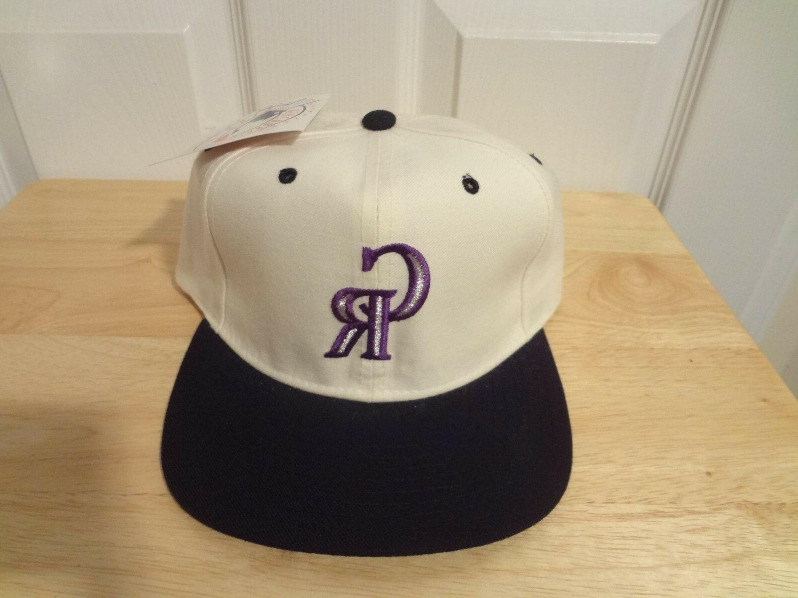 vintage colorado rockies snapback hat 90s pro