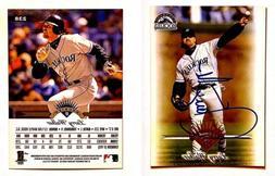 Larry Walker Signed 1997 Leaf #238 Card Colorado Rockies Aut