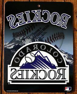 Licensed MLB Sign Colorado Rockies Wall Decor