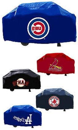 MLB 68 Inch Vinyl Economy Gas or Charcoal Grill Cover -Selec