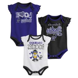 Outerstuff MLB Baseball Infants Colorado Rockies 3 pack Cree
