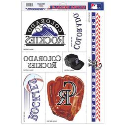 """MLB COLORADO ROCKIES 11"""" X 17"""" DECALS 7 ON SHEET REMOVABLE R"""