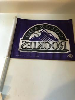 MLB Colorado Rockies 2 sided Car Flag