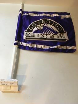 MLB Colorado Rockies 2 sided Car Flag Set of 2 Flags