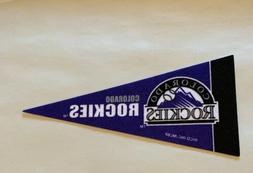 "MLB Colorado Rockies Baseball Mini Pennant 4""x9""  Banner Fel"