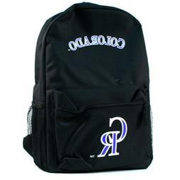 MLB Colorado Rockies Black Backpack