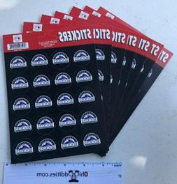 MLB Colorado Rockies Fan Pack 140 Stickers NEW!