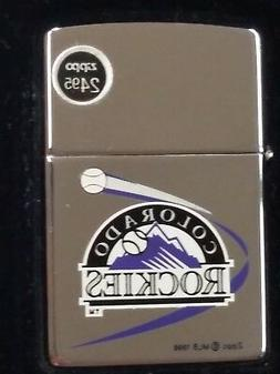 MLB Colorado Rockies Zippo Lighter, NEW