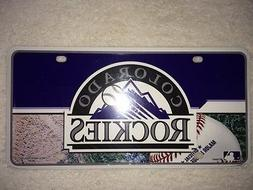 MLB Colorado Rockies Metal LICENSE PLATE COVER TAG * NEW *