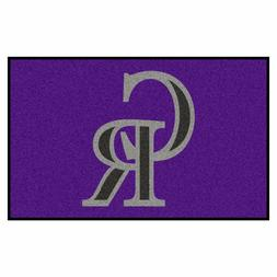 FANMATS MLB Colorado Rockies Nylon Face Ultimat Rug