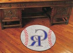 FANMATS MLB Colorado Rockies Nylon Face Baseball Rug