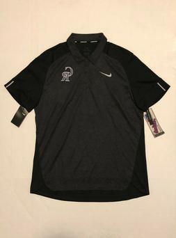 Nike MLB Colorado Rockies Polo Elite Men's Size M Black