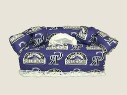mlb colorado rockies sofa tissue box cover