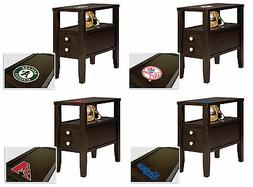 MLB End Table or Nightstand with Drawer Espresso Finish with