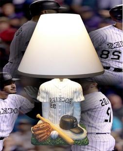 NEW BOYS ROOM MAN CAVE SPORTS COLORADO ROCKIES MLB DESK LAMP