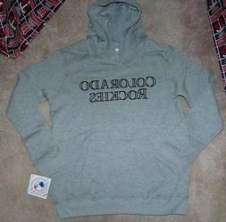 NEW MLB Colorado Rockies Hooded Hoodie Sweatshirt L Large 14