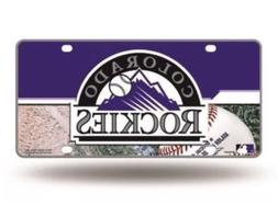 NEW ✿ Colorado Rockies Major League Baseball Metal License