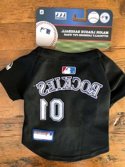 NEW Colorado Rockies Pet Baseball Jersey MLB Pet Outfit Cost