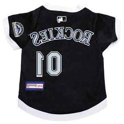 NEW COLORADO ROCKIES PET DOG PREMIUM MLB JERSEY w/NAME TAG A