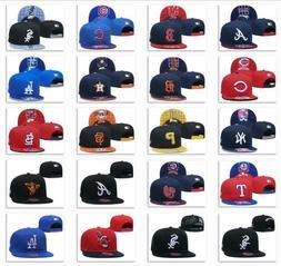New Embroidered MLB Team Baseball Cap Flat Brim Sun Hat Outd