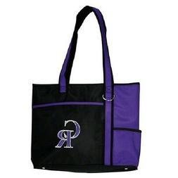 New MLB Carryall Gametime Tote Bag Purse Licensed COLORADO R