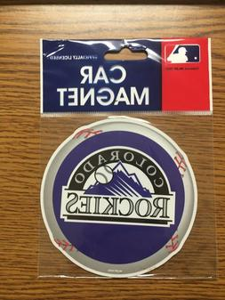 NIP MLB COLORADO ROCKIES OFFICIALLY LICENSED CAR MAGNET 4""