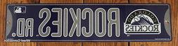 Street Sign Colorado Rockies Rd. MLB Lic. Baseball full colo