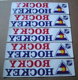 Vintage Colorado Rockies Hockey Bumper Sticker Lot of 5 Rock