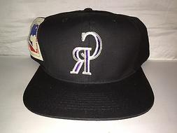 Vtg Colorado Rockies Snapback hat cap 90s MLB Baseball deads