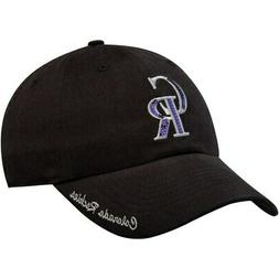 Women's Fan Favorite Black Colorado Rockies Sparkle Adjustab