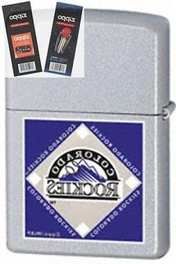 Zippo 22674 mlb colorado rockies Lighter with *FLINT & WICK
